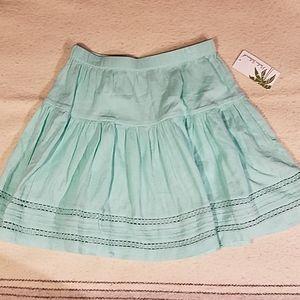 New Palm Island Teal Skirt Sz Small